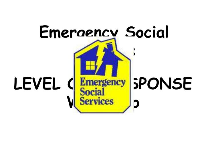 Emergency social services