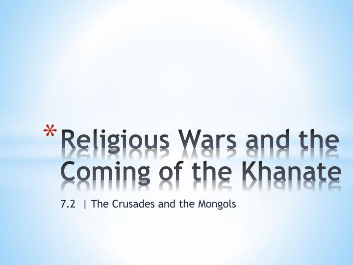 religious wars and the coming of the khanate n.
