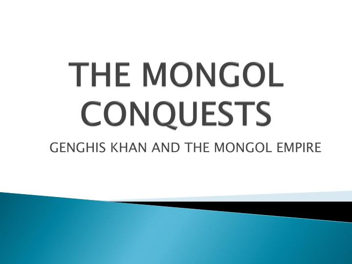the mongol conquests n.