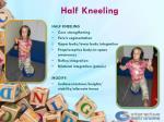 half kneeling