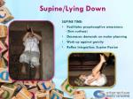 supine lying down