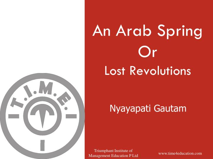 an arab spring or lost revolutions n.