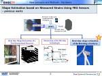 shape estimation based on measured strains using fbg sensors previous works