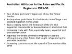 australian attitudes to the asian and pacific regions in 1945 50