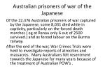 australian prisoners of war of the japanese