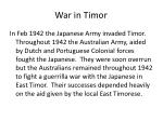 war in timor