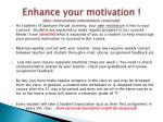enhance your motivation non instructional interventions continued