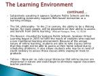 the learning environment continued1