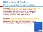 nsw institute of teachers professional teaching standards