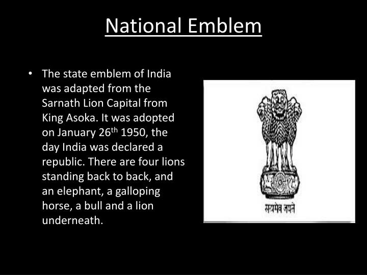 Ppt Indias National Symbols Powerpoint Presentation Id2074801