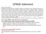 stage statement