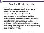 goal for stem education