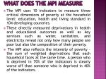 what does the mpi measure