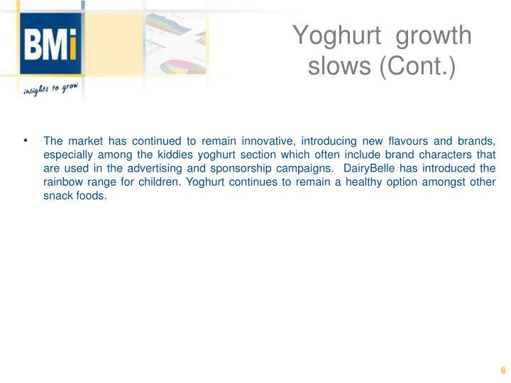 Yoghurt  growth slows