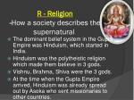 r religion how a society describes the supernatural