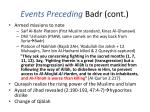 events preceding badr cont