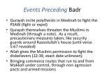 events preceding badr