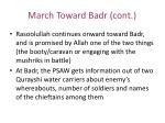 march toward badr cont