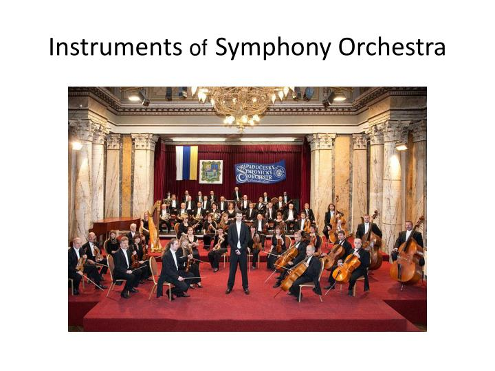 instruments of symphony orchestra n.
