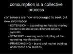 consumption is a collective process