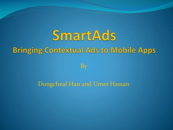 smartads bringing contextual ads to mobile apps n.