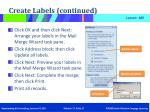 create labels continued5