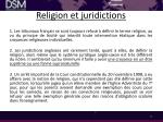 religion et juridictions