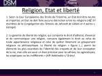 religion etat et libert