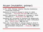 acuan mutakhir primer