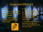 cause and effect 2