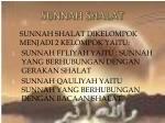 sunnah shalat