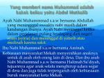 yang memberi nama muhammad adalah kakek beliau yaitu abdul muthalib