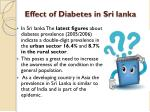 effect of diabetes in sri lanka