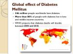 global effect of diabetes mellitus