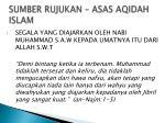 sumber rujukan asas aqidah islam