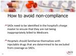 how to avoid non compliance
