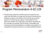 program memorandum a 02 129