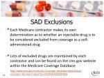 sad exclusions