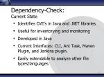 dependency check current state