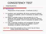 consistency test