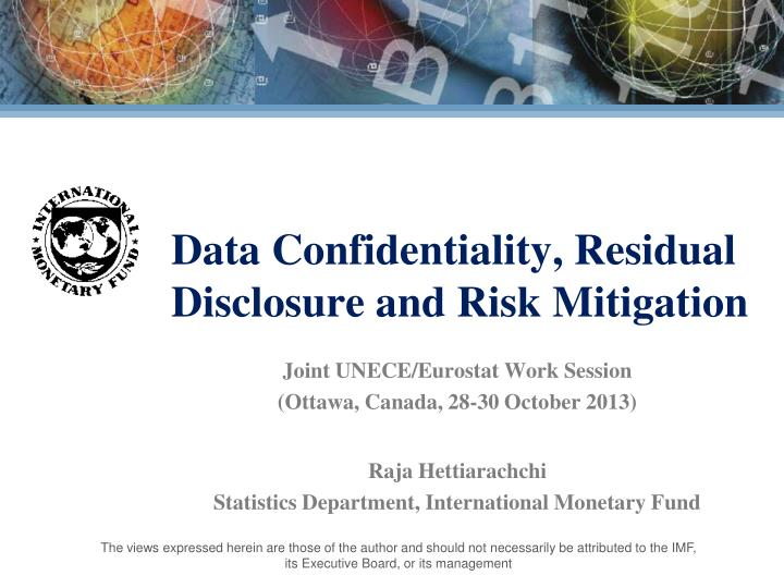 data confidentiality residual disclosure and risk mitigation n.