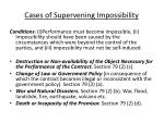 cases of supervening impossibility