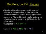modifiers cont d phases