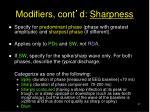 modifiers cont d sharpness