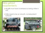 bbq grill pit requirements