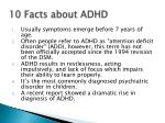 10 facts about adhd
