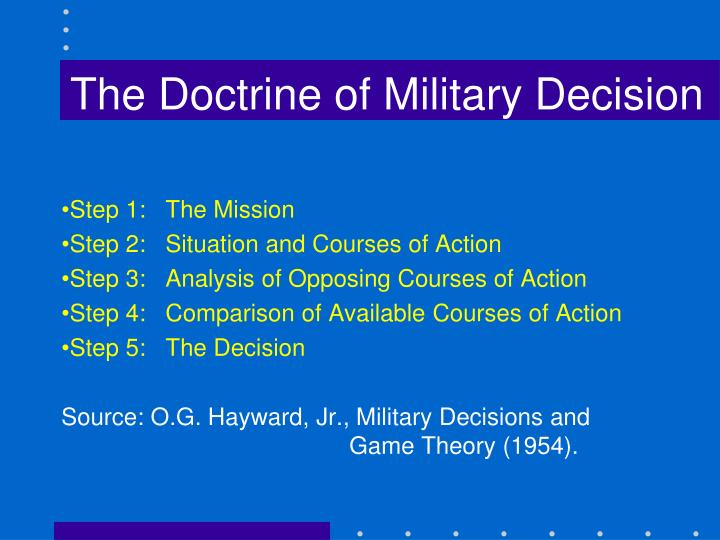 The Doctrine of Military Decision
