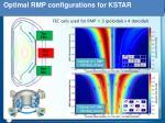 optimal rmp configurations for kstar