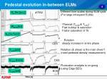 pedestal evolution in between elms