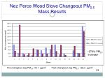 nez perce wood stove changeout pm 2 5 mass results